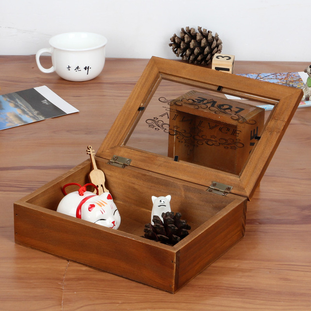 40pcslot Wholesale Korean Style Jewelry Wooden Box Home Makeup Delectable Decorative Wooden Boxes With Lids