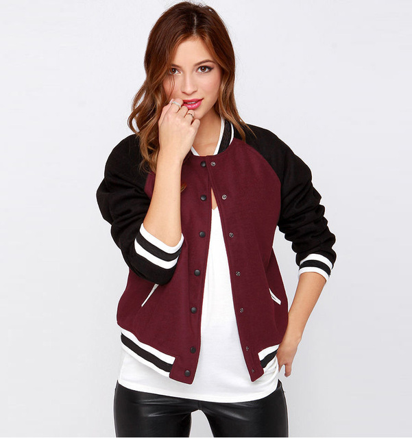 Spring Casual Coats Basic Baseball Jacket Women Fashion Thin ...