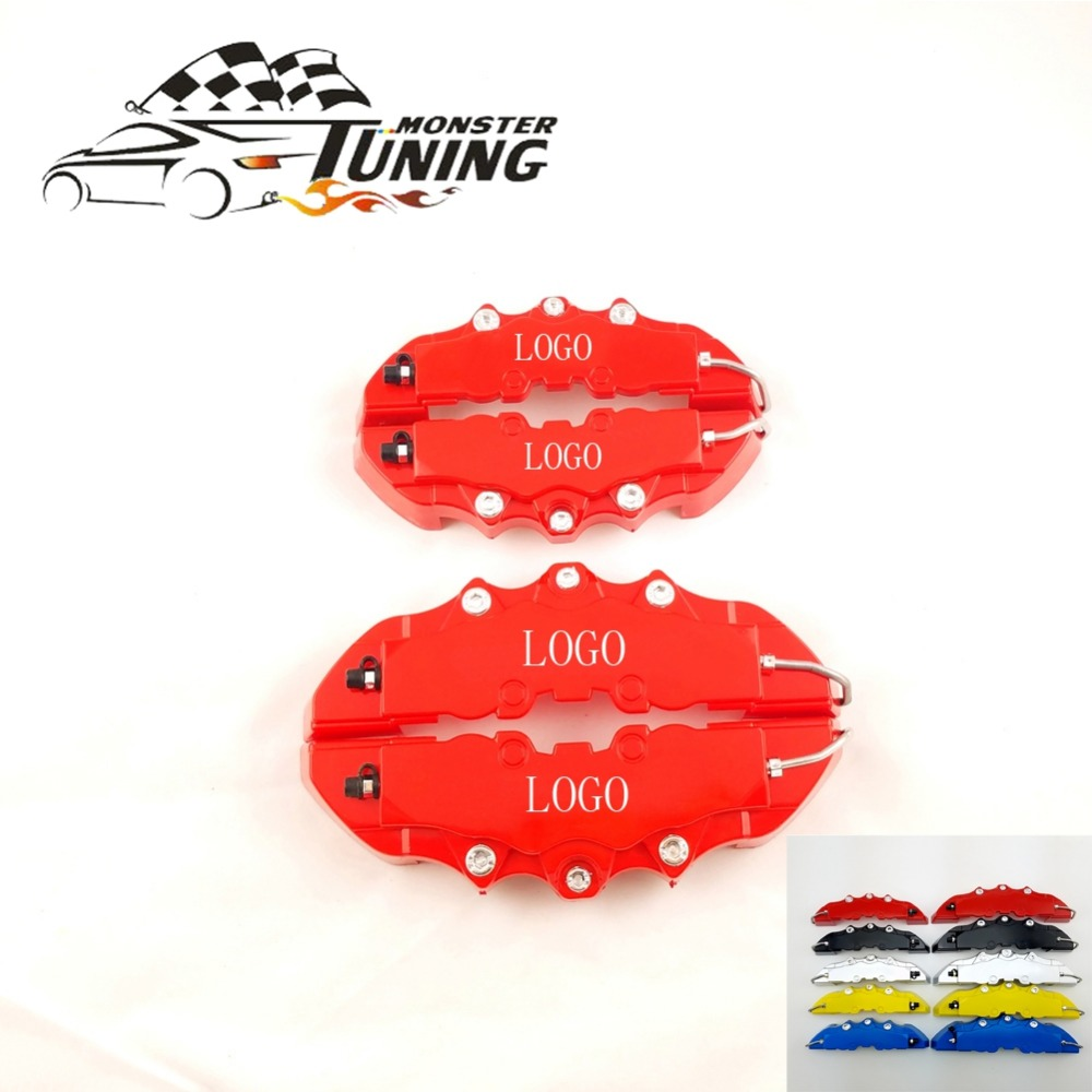 Tuning Monster 4 PCS Brem Car Auto Disc Brake Caliper Cover With 3D Word