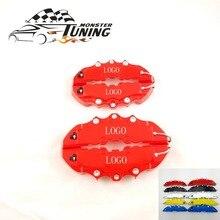 Тюнинг Monster 4 шт. Brem автомобильный дисковый тормозной суппорт крышка с 3D словом Универсальный комплект подходит для 17 дюймов 2 средних и 2 маленьких красных