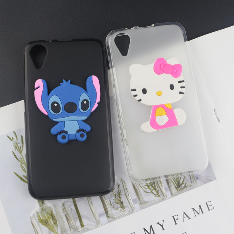 Soft TPU Case for BQ Mobile BQ 4072 Strike Mini Cases Stitch Kitty Minnie Flower Tiger Bee Pearl Diamond Coffee Milk Phone Cover