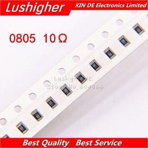 100PCS 0805 SMD Resistor 5% 10 Ohm 100 10R0 10ohm