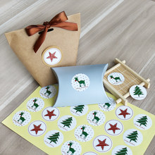 108pcs Christmas Sticker Elk Christmas Tree Deer Star Design Paper Label Baking Gift Sticker Merry Christmas Stationery Stickers(China)