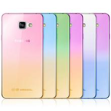 Fashion Soft TPU Gradient Color Back Cover Case for Samsung Galaxy A3 A5 2017 A7 2016 J3 J5 J7 S3 S4 S5 S6 S7 Edge Grand Prime