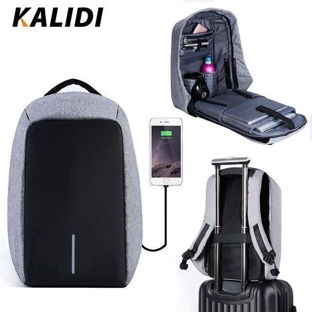 KALIDI Waterproof Men Laptop Backpacks 15inch Multifunction Anti theft Backpack USB Charging Male Travel School Backpacks 17inch
