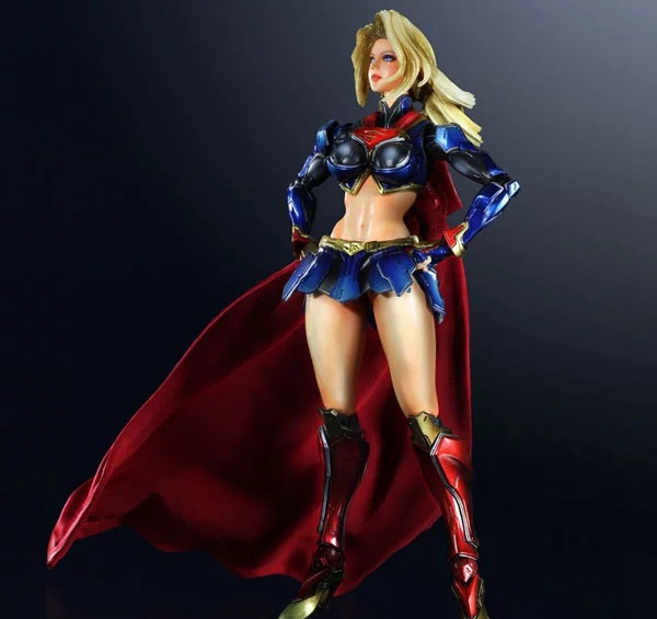 Play Arts Kai SUPERGIRL Super Girl PA Figure Kara Danvers SUPER WOMAN MAN  PA 25cm PVC Action Figure Doll Toys Kids Gift diweini superman play arts kai action figure supergirl super woman collectible model toy pvc anime super man supergirl playarts