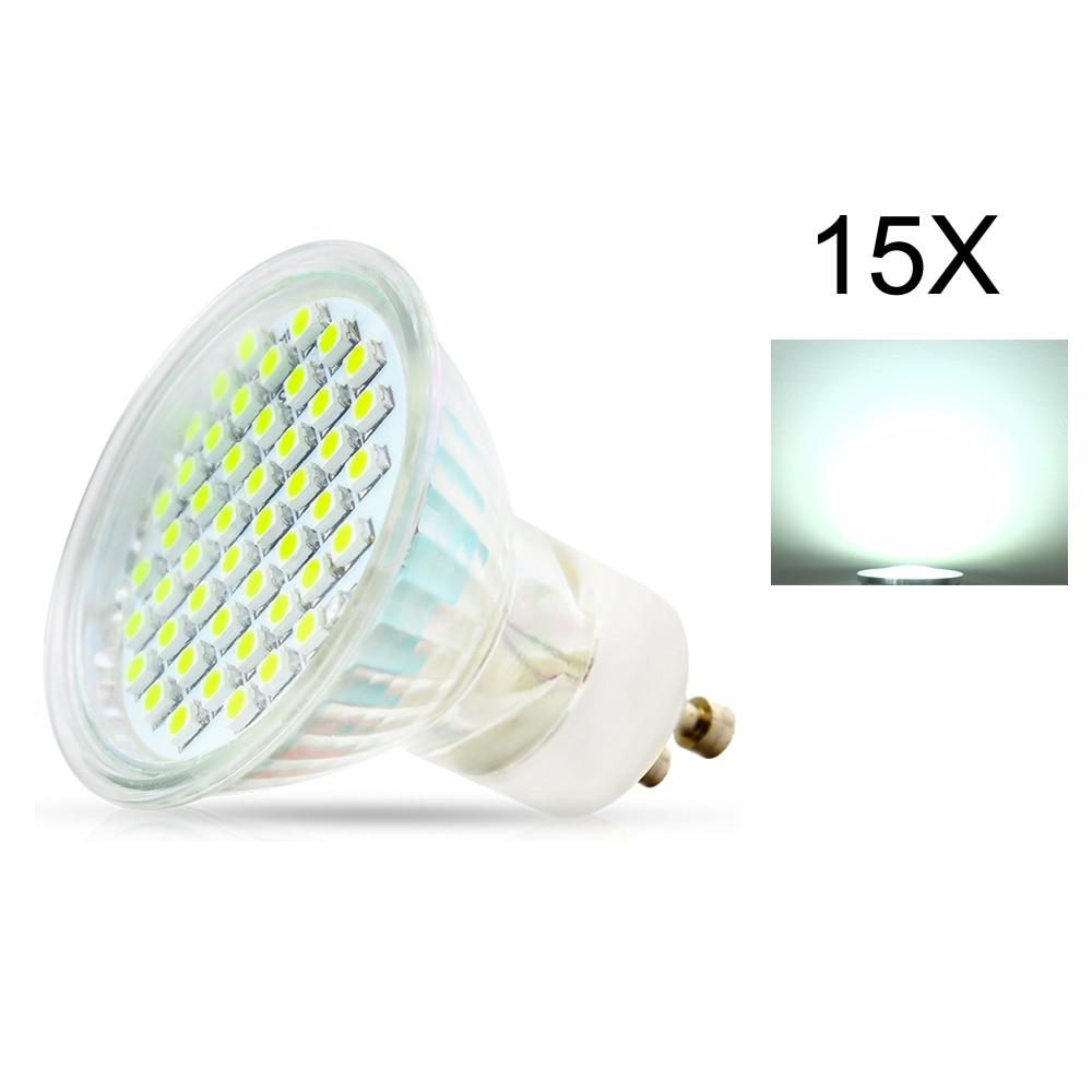 15X LED lampada lamp Light GU10 2835 SMD 3W  AC110V 220V Led Spotlight Warm / Cool White Led Bulbs Light With Safety Glass Cover
