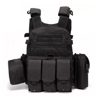 Military Tactical Vest Army Hunting Molle Airsoft Vest Outdoor Body Armor Combat Painball Vests With Triple Mag Pouches