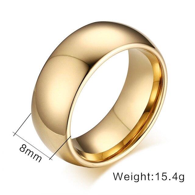 мужские кольца из вольфрама золотого цвета размеры 6 7 8 9 10 фотография
