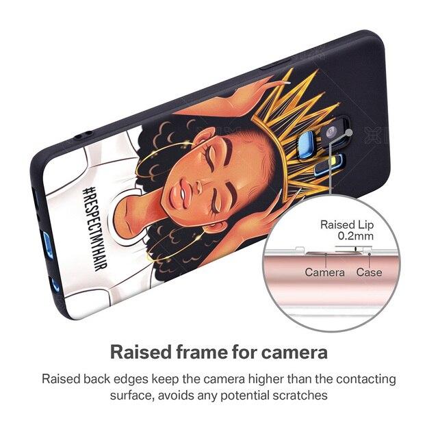 ORAN protection souple TPU pour Samsung Galaxy S8 Cas Filles Africaines pour Samsung S7 Bord Cas Nouveautés pour Samsung Galaxy s8 S9 Plus cas 2