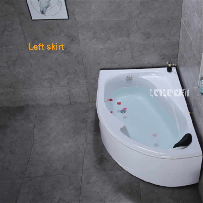 MSB3330 Small Size Fan shaped Bathtub Household Independent Type Adult Acrylic Bathtub Modern Wall Corner Bathtub 1.2 Meters