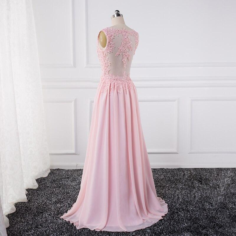 Sexy se gjennom Lace Appliques Evening Dresses 2018 pluss vestido de - Spesielle anledninger kjoler - Bilde 3