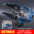 New 703pcs Lepin 05044 Star War Series Limited Edition The TIE Interceptor Building Blocks Bricks Model Toys 7181 Boys Gifts