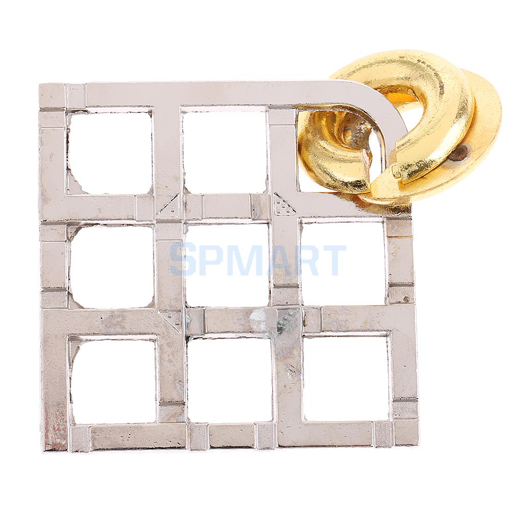 Grid Lock Puzzle Classic Metal Brain Teaser IQ Test Toy for Adults Children math toy 3d metal puzzle lock toy children iq brain teaser metal wire puzzle 3d puzzle metal educational toy for children gift