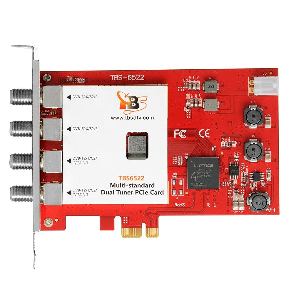 Prix pour Tbs6522 dvb-s2x/s2/s/t2/t/c2/c/isdb-t double tuner pci-e carte soutien vcm, CCM, QPSK, 8PSK, 16 32APSK, 32 32APSK