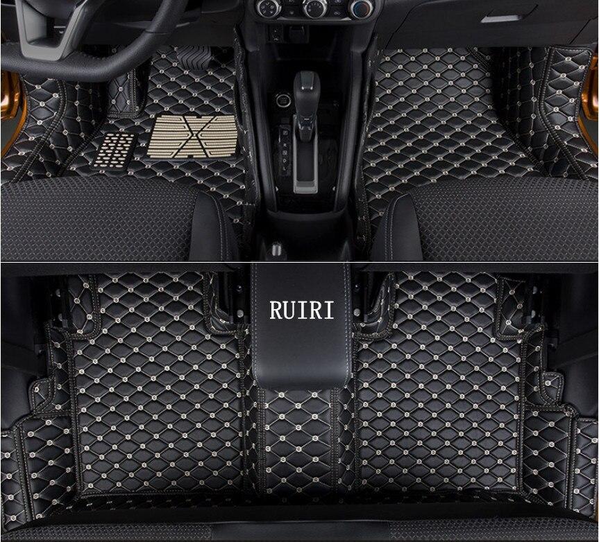 Высокое качество! Специальные автомобильные коврики для Nissan пинает 2018 Нескользящие прочные коврики водонепроницаемый ковры для пинает 2017, ...