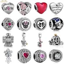 e523923e1b70 La fabricación de la joyería Diy mujeres Pulsera Bamoer Fit Pandora Charms  de plata 925 Original