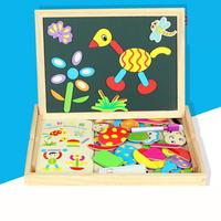 Magnetic Constructor Wooden Learning Board Children's Puzzle Wonderful Double sided Magnetic Puzzle Board Toys For Children