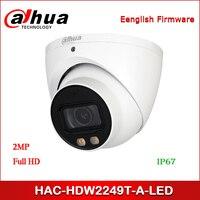Dahua HAC HDW2249T A LED kamera telewizji przemysłowej 2MP w pełnym kolorze Starlight HDCVI kamera gałki ocznej w Kamery nadzoru od Bezpieczeństwo i ochrona na