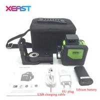 XEAST XE 903 12 Line Laser Level 360 Self Leveling Cross Line 3D Laser Level Red