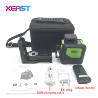 XEAST XE 903 12 Line Laser Level 360 Self Leveling Cross Line 3D Laser Level Red