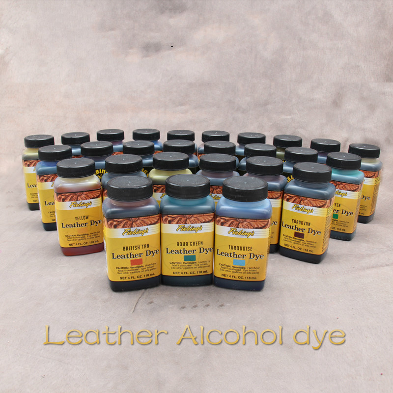 American Import Leather Alcohol Dye Vegetable Tanning Handmade DIY leather craft tools 28 colors 118ml  Hand-tools-for-leatherAmerican Import Leather Alcohol Dye Vegetable Tanning Handmade DIY leather craft tools 28 colors 118ml  Hand-tools-for-leather