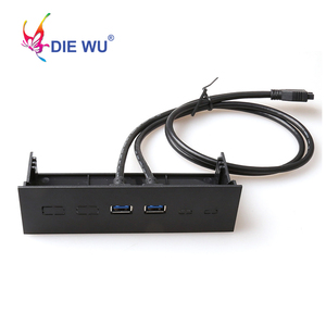 Image 5 - Computer accessories front panel 4 Ports USB 3.0 USB 2.0 USB 3.1 Type C hub Splitter Internal Combo Bracket Adapter