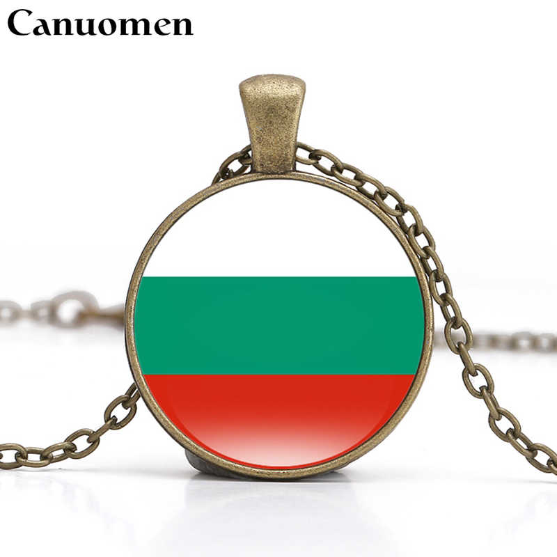 Canuomen Croatia Flag Pendant Necklace Southern Europe Country Albania Andorra Bulgaria Vatican BA I Love Hometown Women Jewelry