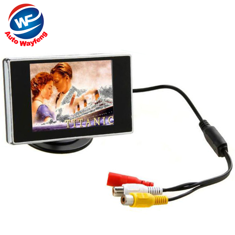 Prezzo di fabbrica Nuovo 3.5 Definizione Hign Colori Car monitor TFT LCD Monitor di Rearview per DVD telecamera di retromarcia Spedizione gratuita WF