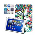 Solid PU Leather Cover Stand Case for Sony Xperia Z3 Compact 8 inch Tablet + Magnet + Screen Protector + Stylus Pen
