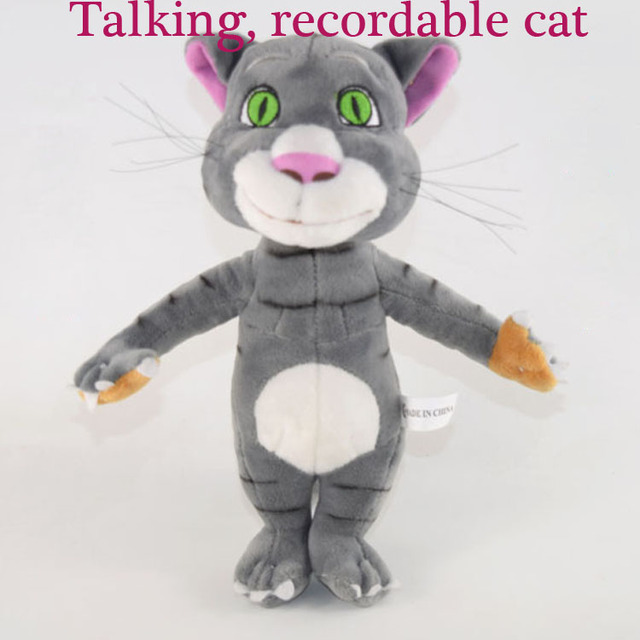 Talking Recordings Can Learn Words Cat Plush Toy Dolls Educational Toys
