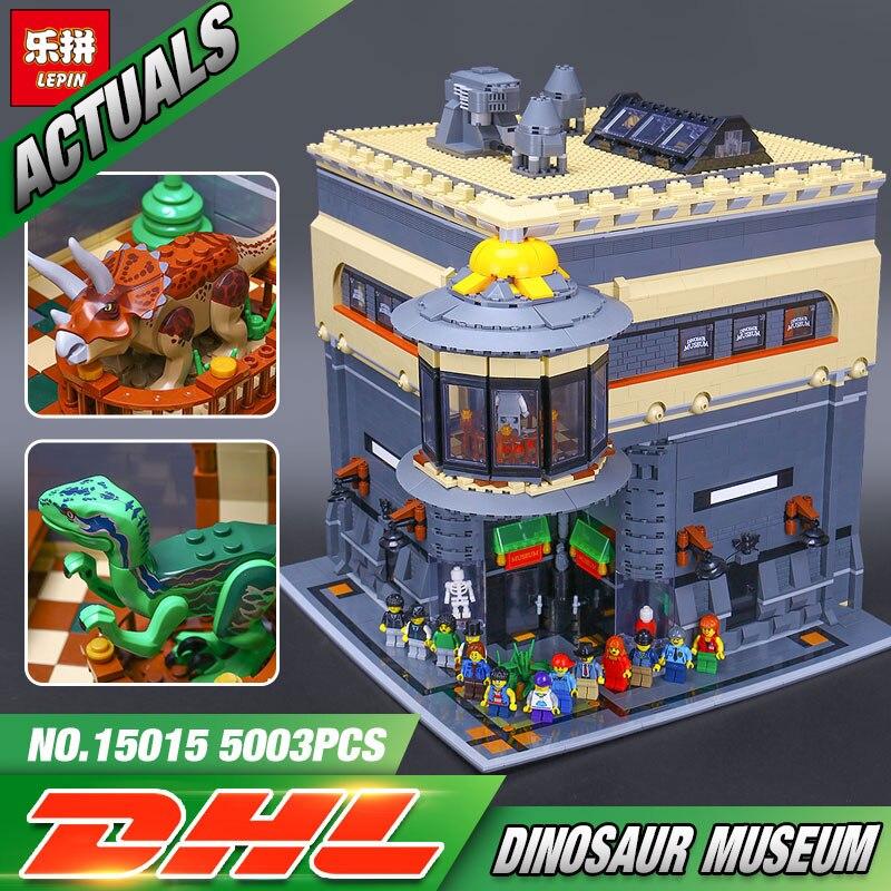LEPIN 15015 5003pcs City Building Series The dinosaur museum Model Building Kits Bricks Blocks Educational Funny Gift Toy