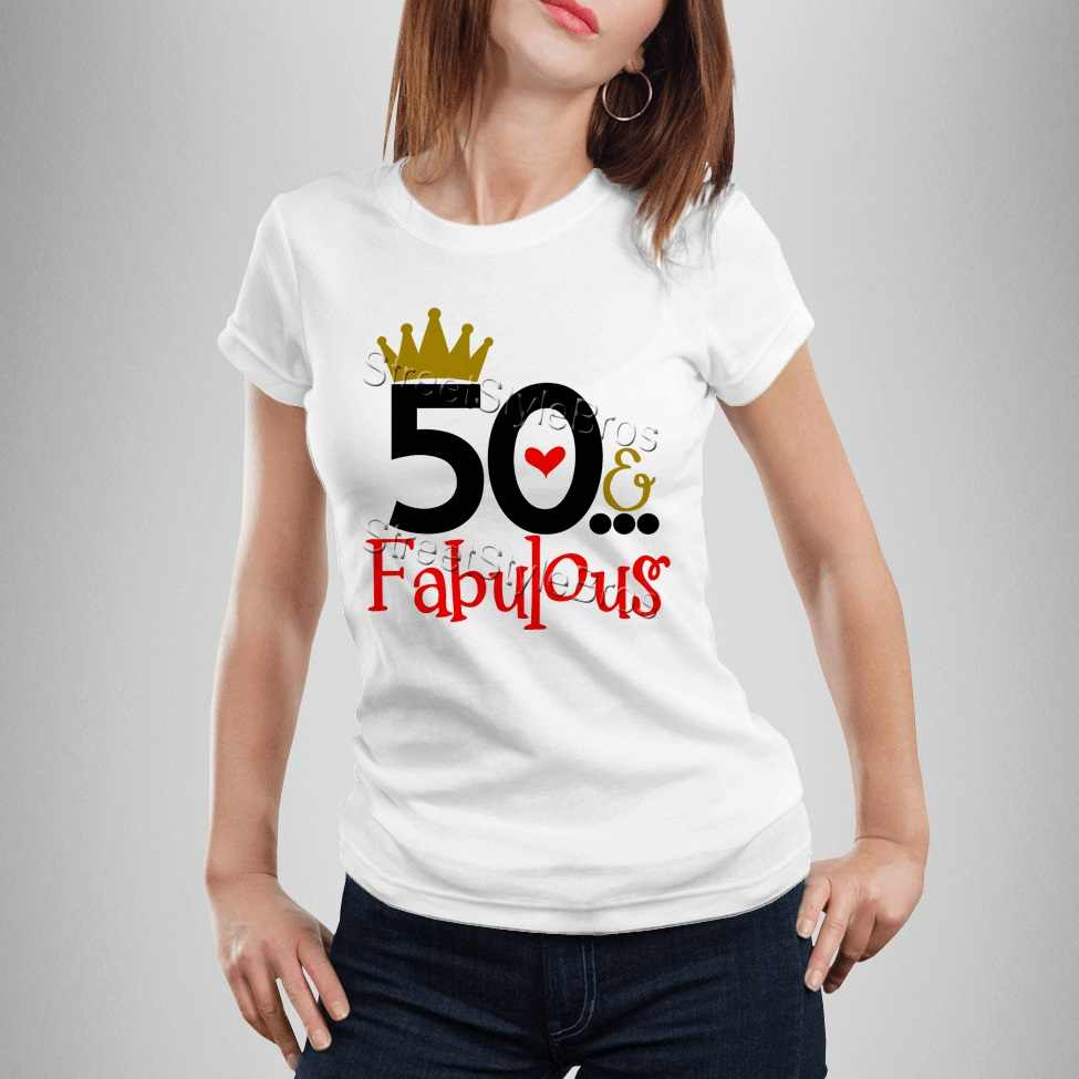 Detail Feedback Questions About 2019 Summer Women T Shirt 50 FABULOUS Ladies 50th Birthday Years Friend Mum Mother Present Cute On