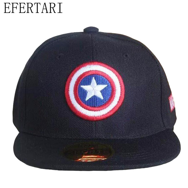 1fbd822102db7  EFERTARI  New Hot Sale 2017 Snapback Caps Kids Baseball Cap Marvel The  Avengers Captain America Adjustable Bone Casquette Hat