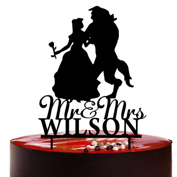 Beauty and the Beast Wedding Cake Topper,Personalized ...