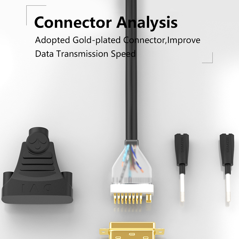 SAMZHE 1080P DVI Cable DVI 24+1 Pin Male to Male 1m/1.5m/2m/3m/5m/8m/10m DVI to DVI Cable Adapter for Projector Laptop TV