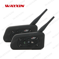 2 X BT 1200M Motorcycle Helmet Bluetooth Intercom Headset Connects Upto 6 Riders FREE SHIPPING Pack