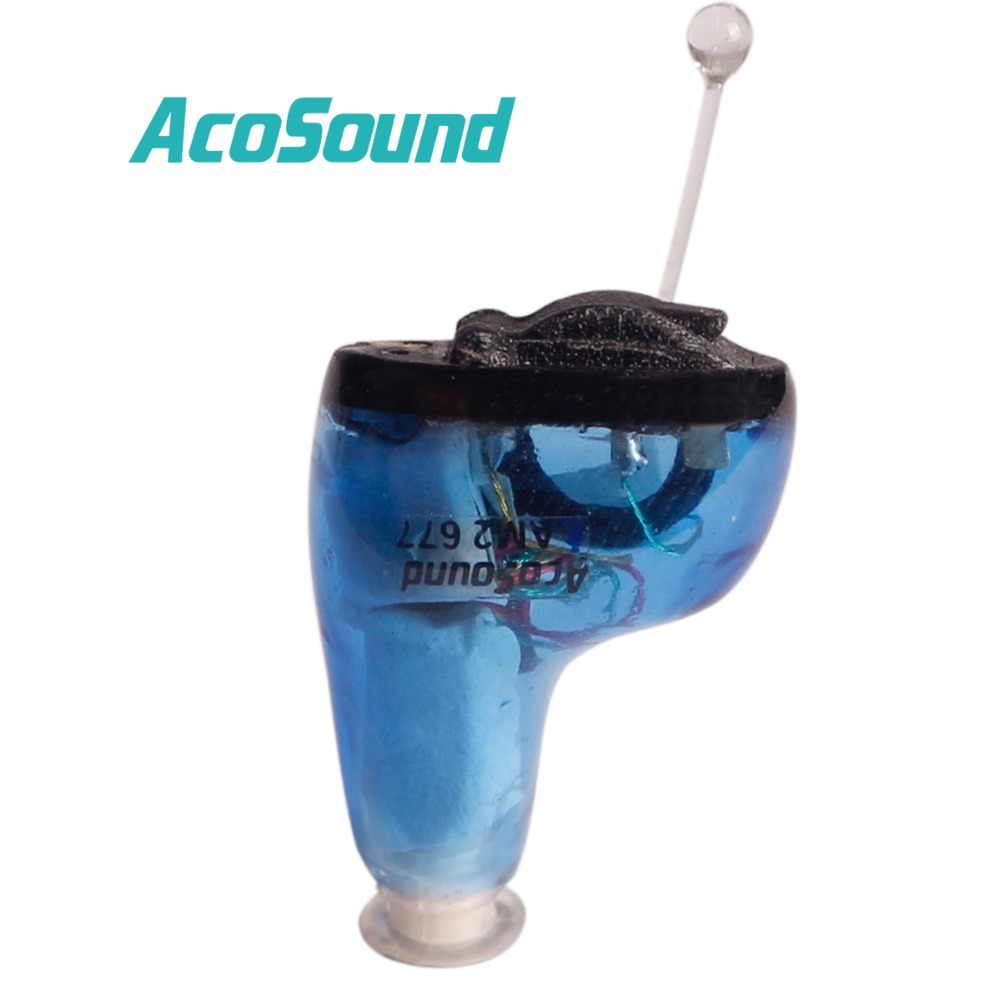 AcoSound Acomate 610 IF Digital Ear Care Mini Hearing Aid Adjustable Sound Amplifier Hearing Aids Blue Color For Left Ear