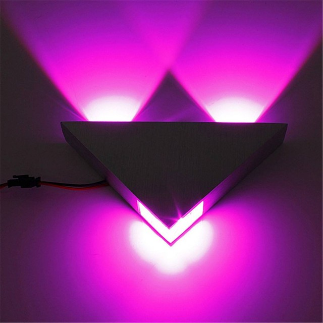 High Power 3W Modern Triangle LED Sconce Decoration Colorful ...