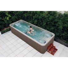 Pływanie i masaż niekończące się pływanie zintegrowane formowanie akrylowe w Villa ogród piasek cylindra filtracji pod prąd tanie tanio KARICARE WS-S06B 2 osób Spa wanny Guangdong China (Mainland) Acrylic Gelcoat Massage swimming Whirlpool Massage 5840x2240x1250