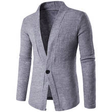 Men Cardigan Kintwear Sweaters Male Solid Casual Long Sleeve Knit Cardigans Sweater Trench Coat New Arrival 0548