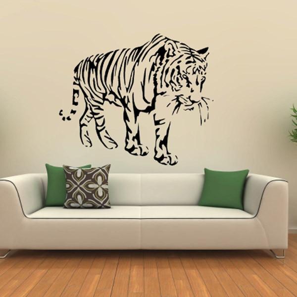 ⃝Vinilo León Adhesivos de pared para sala papel pintado Decoración ...
