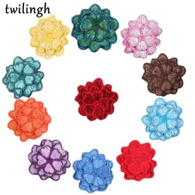 twilingh embroidered applique sew on patches clothing stickers lace flower applique brand patch