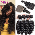 Malaysian Loose Wave Virgin Hair With Closure Malaysian Loose Deep Wave With Closure Ali moda Malaysian Curly Hair With Closure