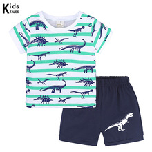 hot deal buy new summer boys clothing sets toddler infant kids baby boys t-shirt+shorts pants 2 pcs children clothes sets casual set