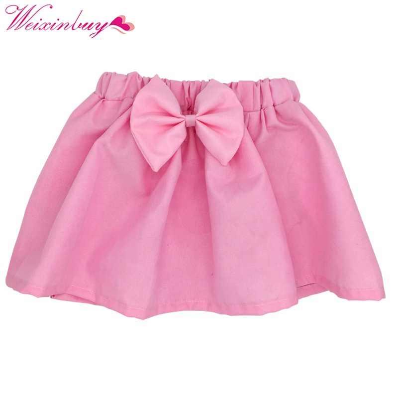 Мини-юбка-пачка для новорожденных детей плиссированная Пышная юбка для девочек вечерние юбки принцессы для танцев 6-12 месяцев