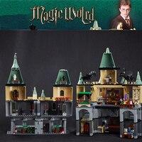 Lepin 16029 الفيلم سلسلة سحرية hogwort القلعة بناء كتل الطوب ألعاب تعليمية للأطفال 5378