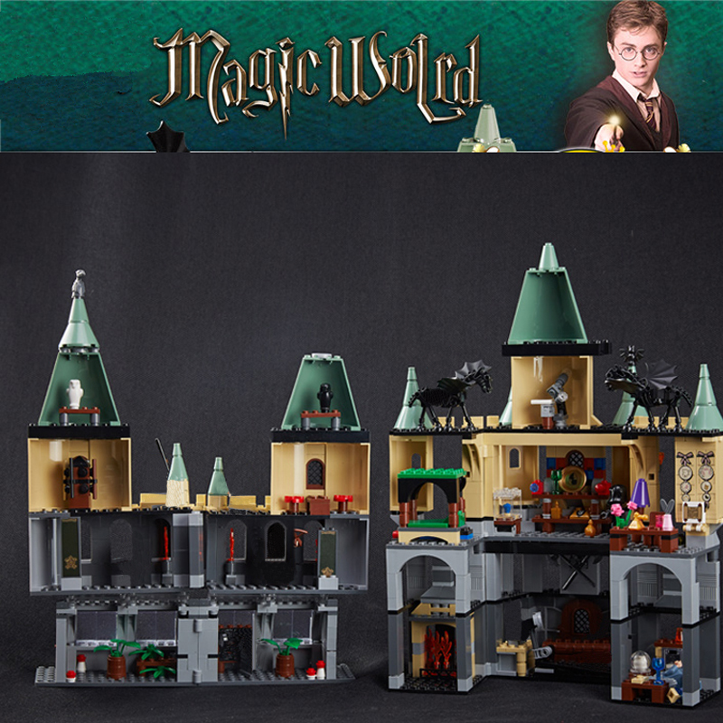 Lepin 16029 Movie Series The Magic Hogwort Castle Model Building Blocks Bricks Educational Toys For Children 5378 Legoingse Toys china brand 16029 educational bricks toys diy building blocks compatible with lego hogwarts castle 5378