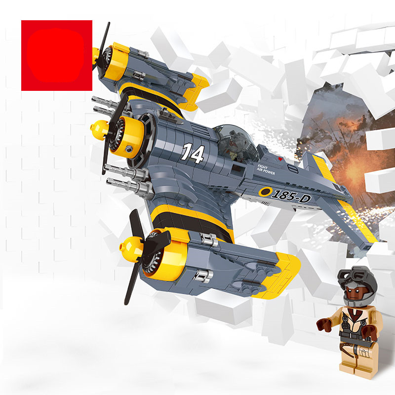 MOC Lepine 919Pcs Technical Series The Beautiful Science Fiction Fighting Aircraft Set Building Blocks Bricks Toys Model Gift lepine model