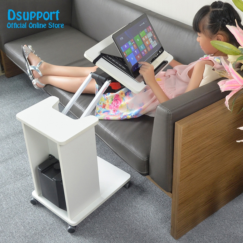 Kesrer-T Multifunctional Moving Laptop Desk Arm Rotating Lift Sofa Bedside Notebook Stand Lazy Computer Table